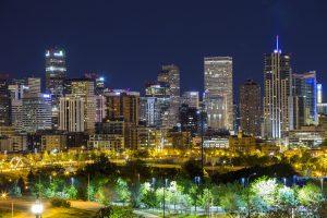 45570087 - denver downtown panorama at night, colorado, usa