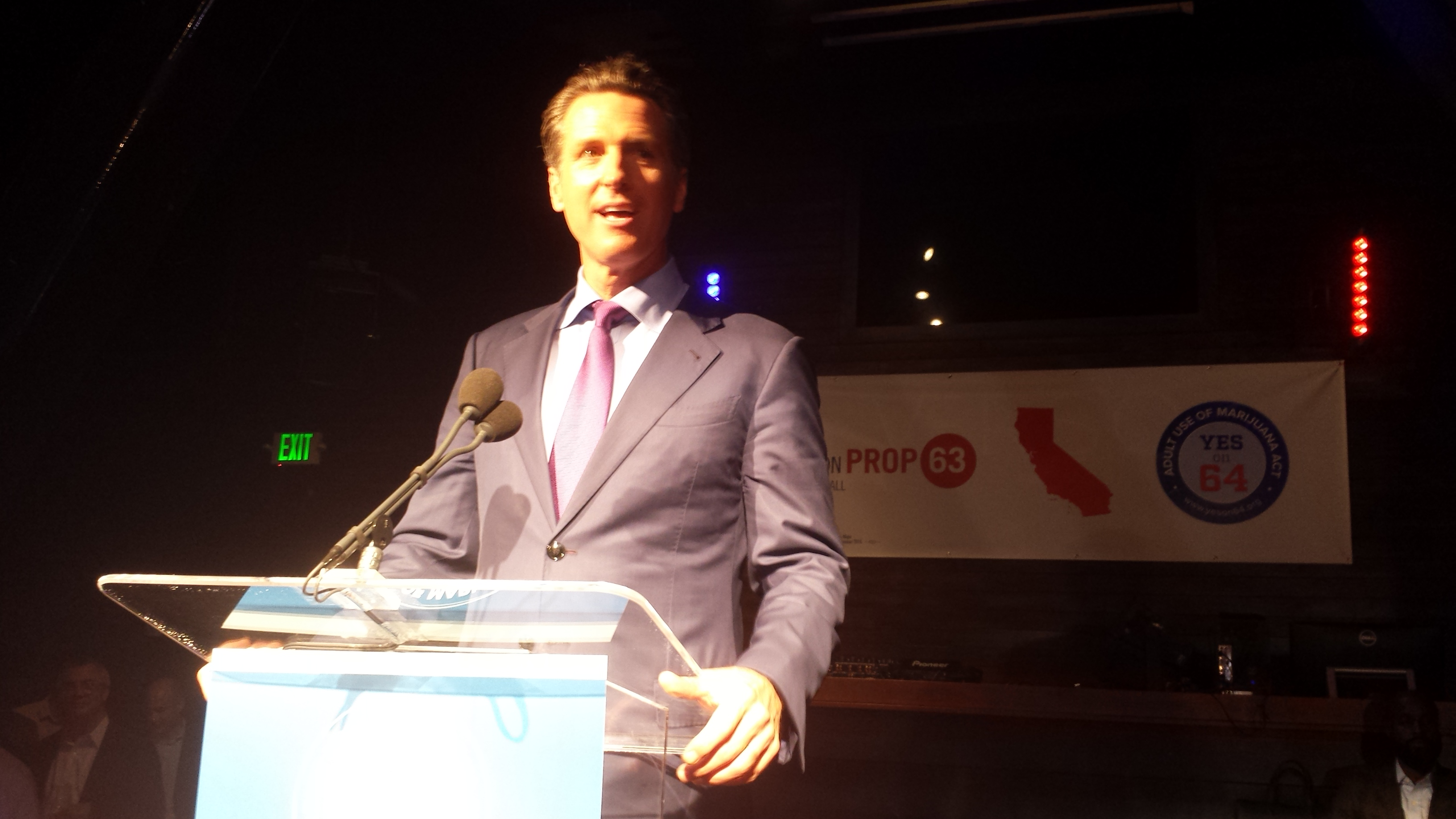 California Lt. Gov. Gavin Newsom on election night 2016