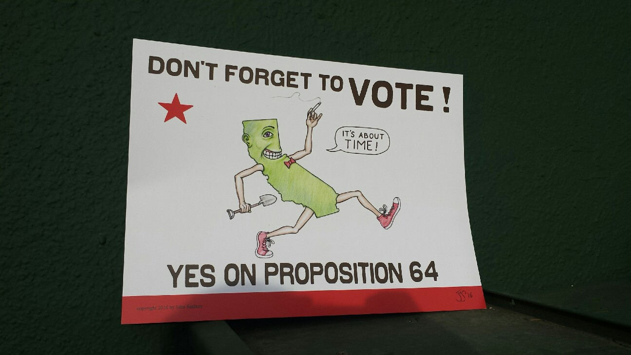 California Prop 64 poster