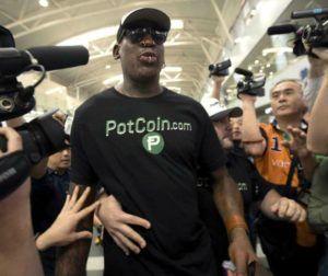 PotCoin sponsors Dennis Rodman trip to U.S.-North Korea summit, The Dennis Rodman effect: PotCoin gets a boost from US-North Korea summit