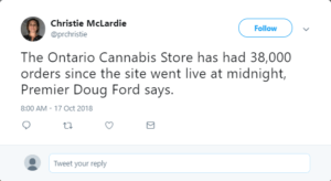 Canada recreational marijuana, Canada's Landmark Day: Country launches industrialized world's first recreational cannabis market