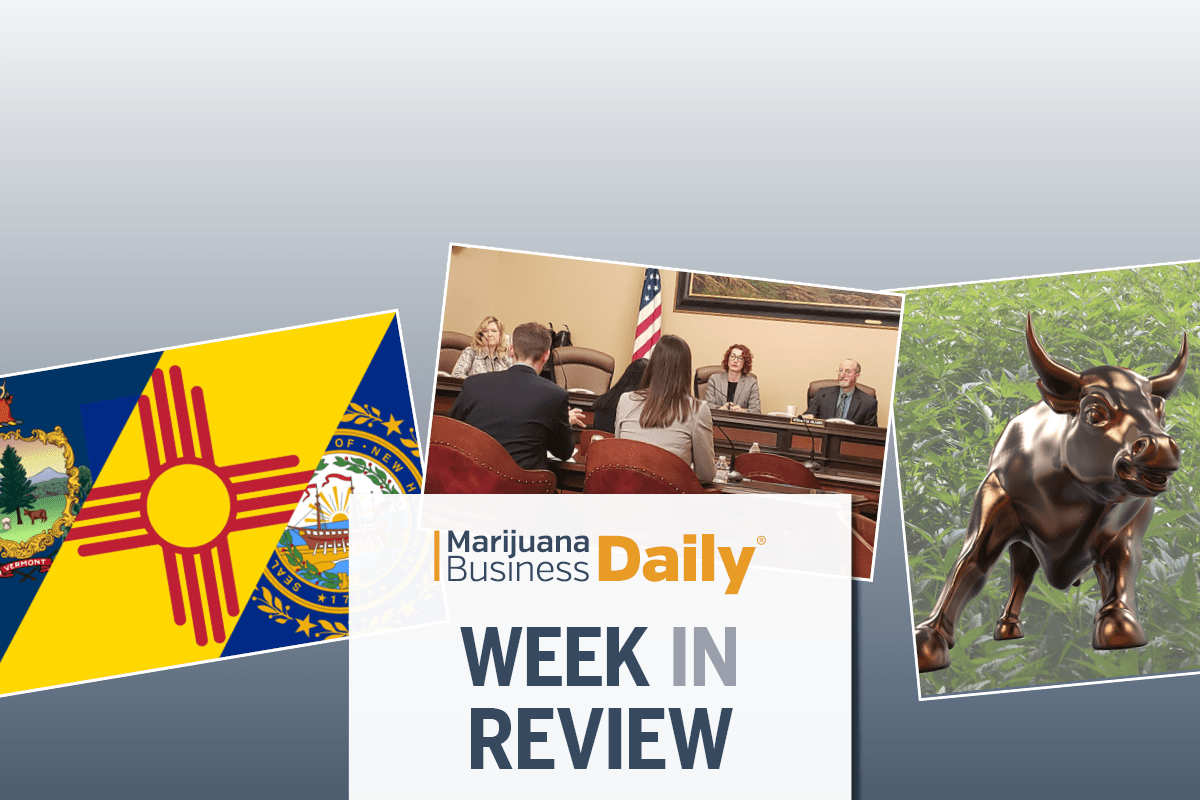 New Hampshire New Mexico Vermont recreational marijuana, Adult-use cannabis bills move ahead in three states and other top stories from the week ending March 1 (SLIDESHOW)