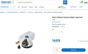 Walmart Canada removes Canopy Growth's cannabis vaporizer from website