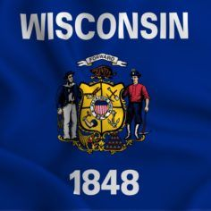 Image of Wisconsin state flag