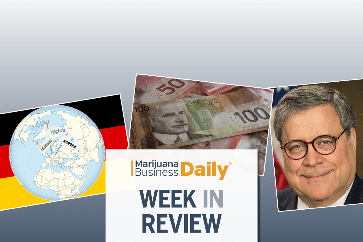 AG Barr shows openness to federal law protecting state-legal cannabis programs & more of the week's top MJ news (SLIDESHOW)