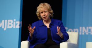 Former Canada prime minister Kim Campbell, Cannabis firms, policymakers must work hand-in-hand, ex-Canadian prime minister says in MJBizConINT'L keynote