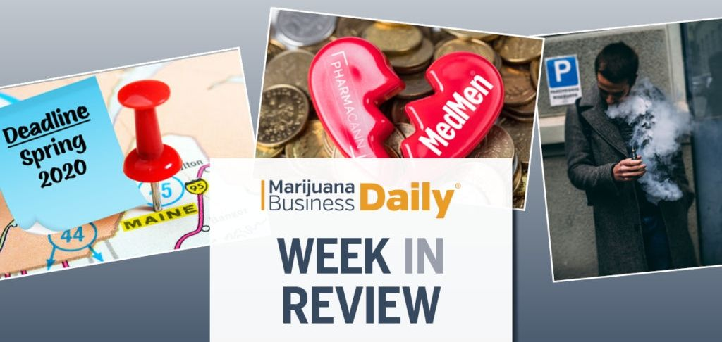 Cannabis merger goes up in smoke, regulators target MJ vaping, Maine inches toward adult-use sales & more
