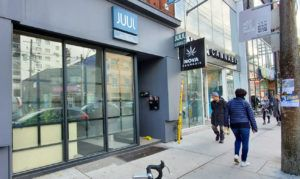Nova Cannabis and Juul stores in Toronto.