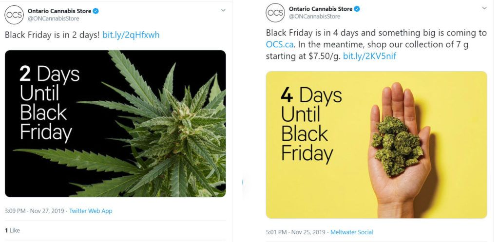 Ontario Cannabis Store deletes Black Friday tweet 'in consultation' with federal regulator