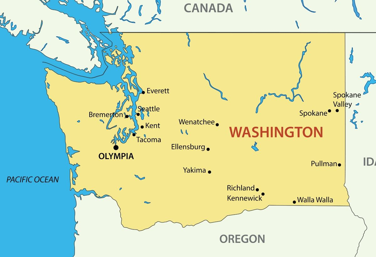 Washington Canada Map WA state removes online business map due to cannabis crime