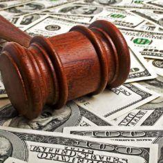 image of gavel, cash