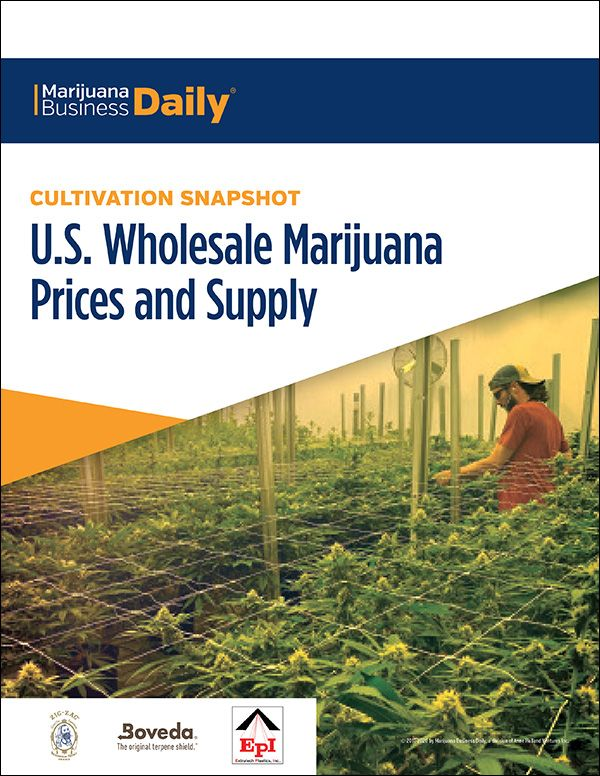 Cultivation Snapshot: U.S. Wholesale Marijuana Prices and Supply
