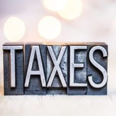 Image of the word taxes
