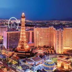 Aerial image of Las Vegas strip