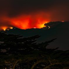 Image of a California wildfire