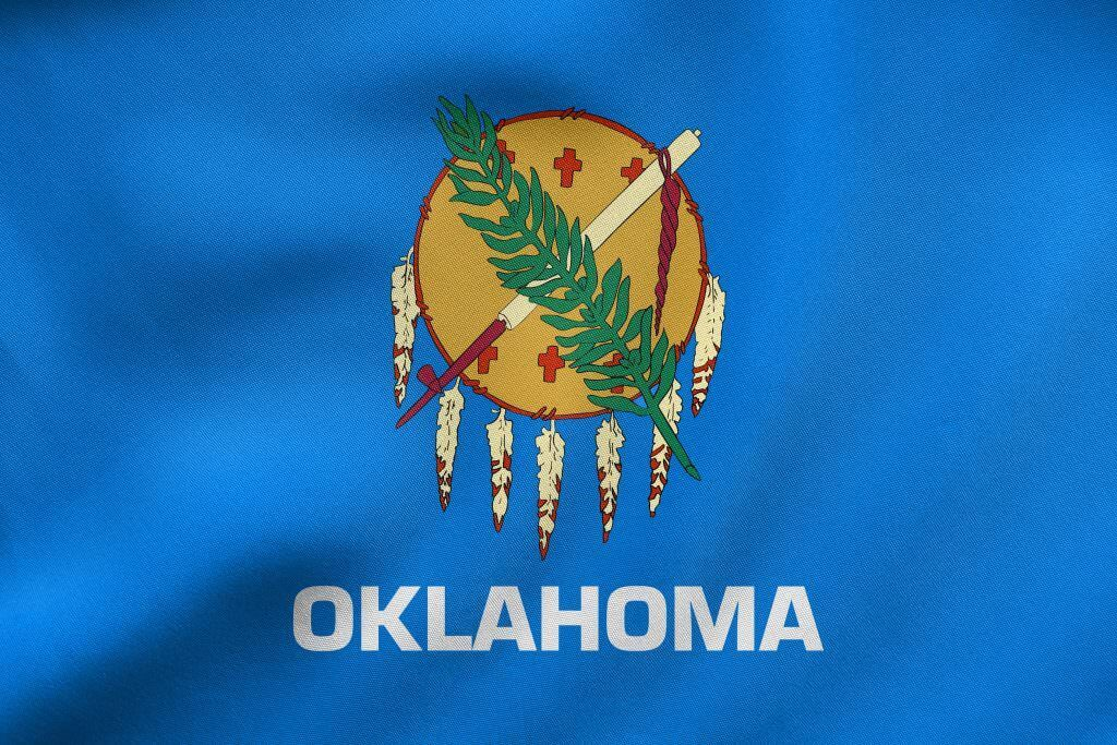 Oklahoma state flag and marijuana program