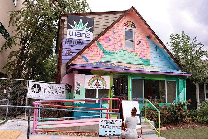 marijuana brand markets with new project, Wana Brands creates immersive public art installation in Denver