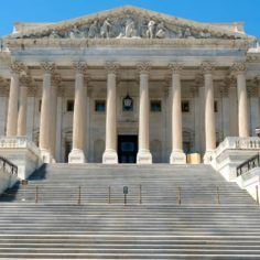 Image of U.S. House of Representatives wing a Capitol