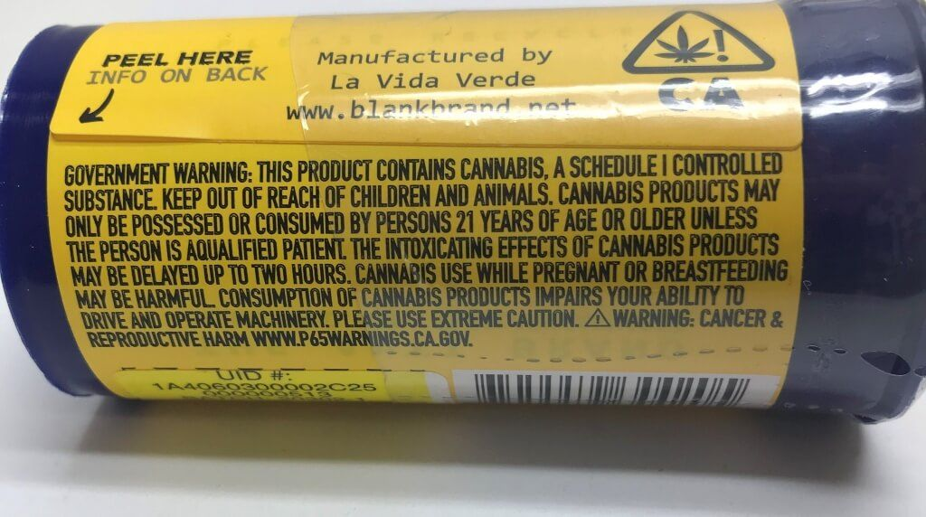 cannabis labeling; public-health warnings, New California cannabis health-warning label requirement could trigger swell of industry lawsuits