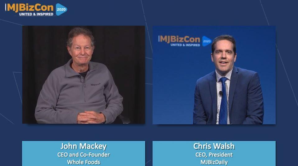 Whole Foods CEO John Mackey; MJBizCon 2020, Whole Foods CEO John Mackey at MJBizCon 2020 says strong, sustainable brands win