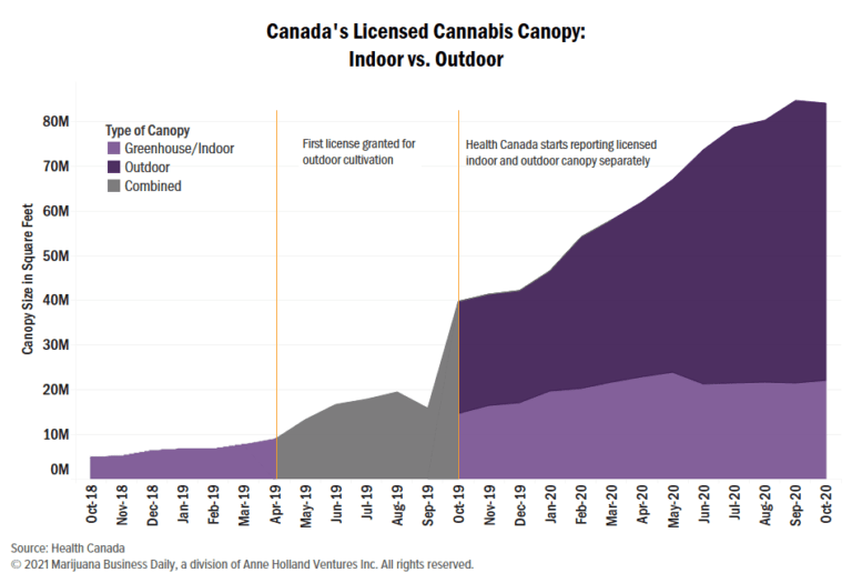 Canada cannabis cultivation, Canada's 'croptober' surge pushes cannabis inventory over 1 million kilograms