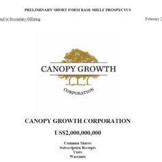 Canopy Growth cannabis fund raise