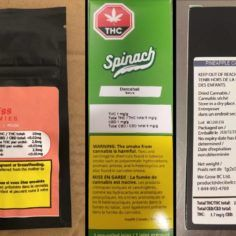 A picture showing recalled Canadian cannabis products.