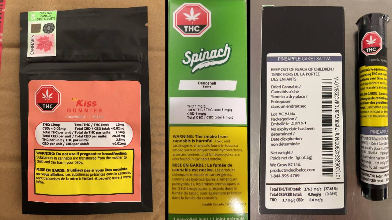 Moldy cannabis gummies, mislabeled pre-rolls recalled in Canada