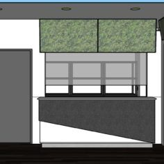 A mock-up showing the interior of a Cannabis Xpress store.