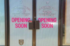 "An Ontario marijuana store with an ""opening soon"" sign"