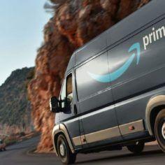Image of Amazon delivery van