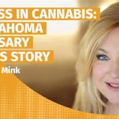 Podcast title with picture of Denise Mink of Med Pharm dispensary