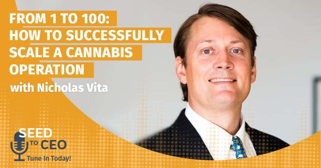 Podcast title with picture of Nick Vita of Columbia Care