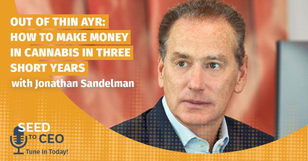 Jonathan Sandelman, Ayr Wellness, podcast banner