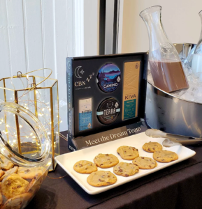 An image showing a Kiva Brands display featuring CBN products.