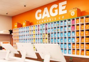 Image of the interior of a Gage store