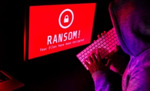 Image depicting a ransomware hacker